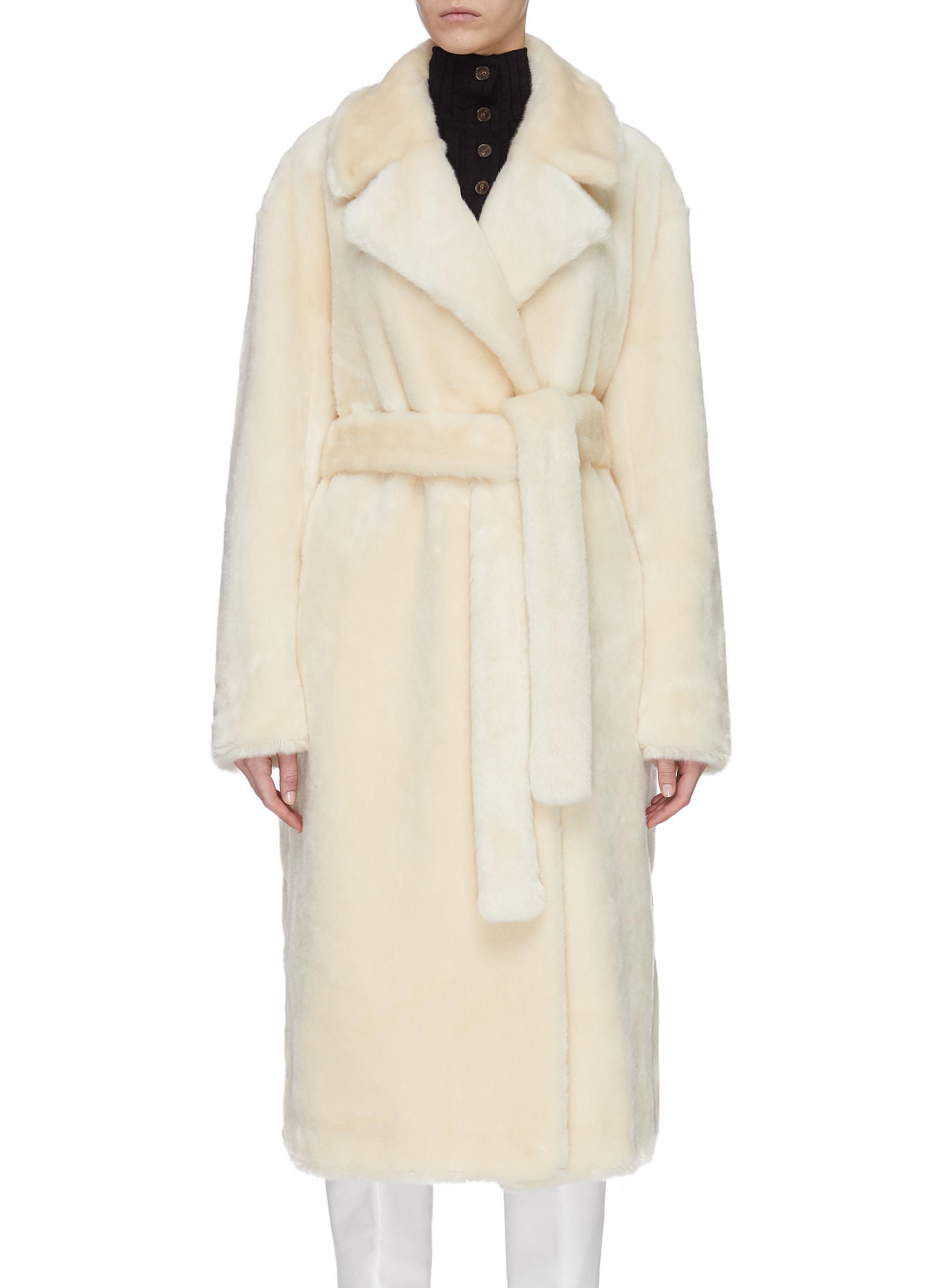 shop Tibi Luxe faux fur oversized coat online