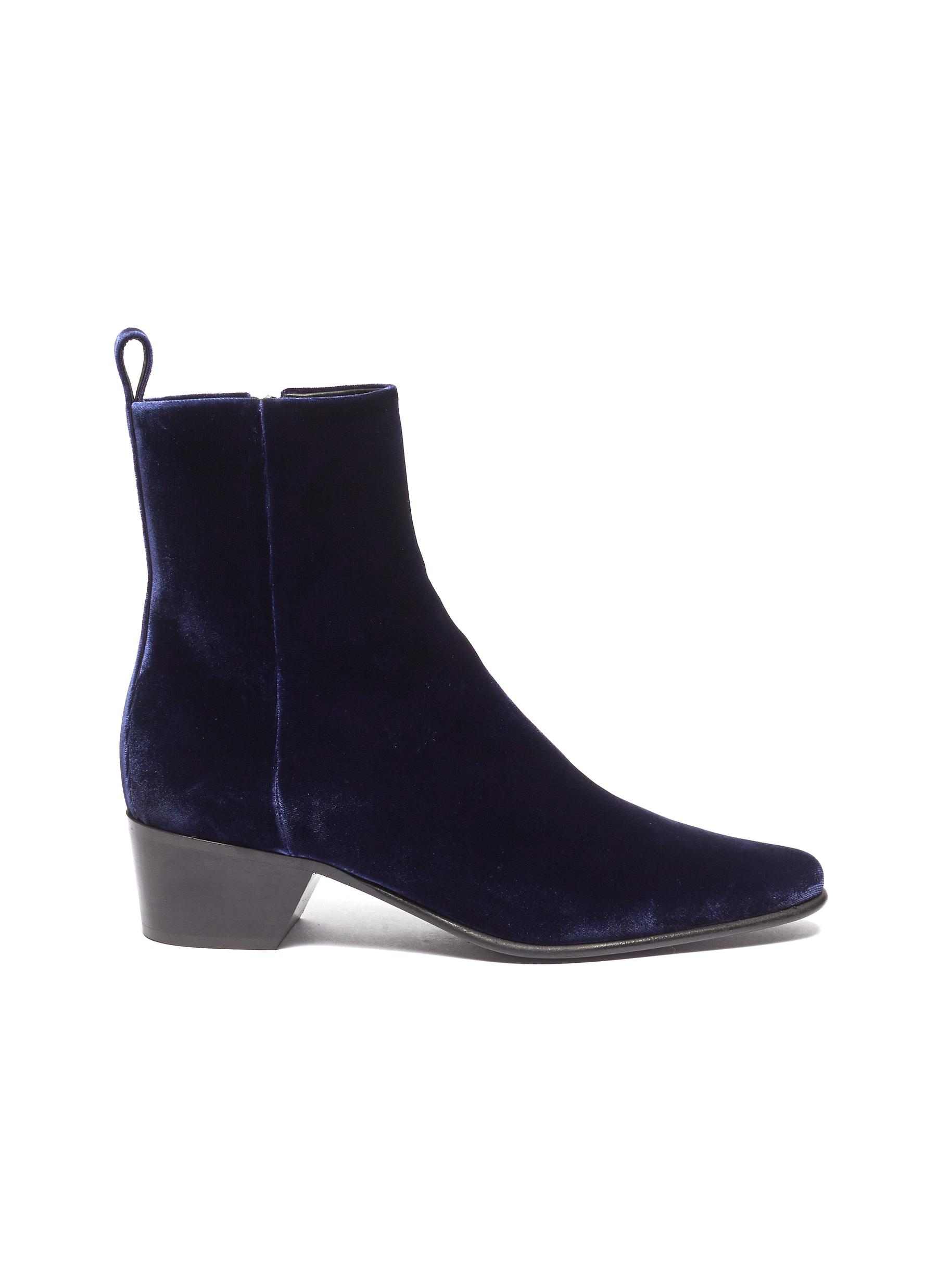 Reno velvet ankle boots by Pierre Hardy