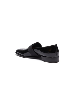- SANTONI - 'Moore' grosgrain band patent leather loafers