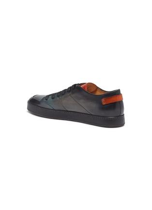 - SANTONI - Burnished leather sneakers