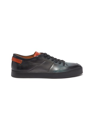 Main View - Click To Enlarge - SANTONI - Burnished leather sneakers