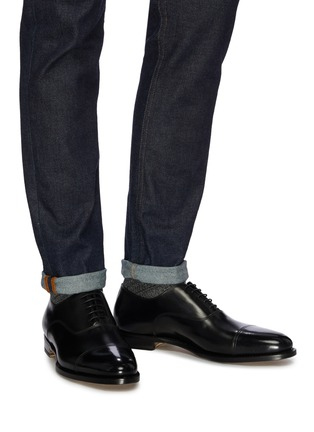 Figure View - Click To Enlarge - SANTONI - 'Wilson' leather Oxfords