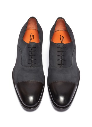 Detail View - Click To Enlarge - SANTONI - 'Carter' panelled leather Oxfords