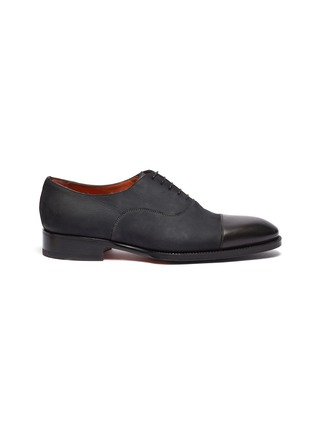 Main View - Click To Enlarge - SANTONI - 'Carter' panelled leather Oxfords
