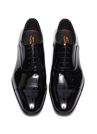 Detail View - Click To Enlarge - SANTONI - 'Moore' patent leather Oxfords