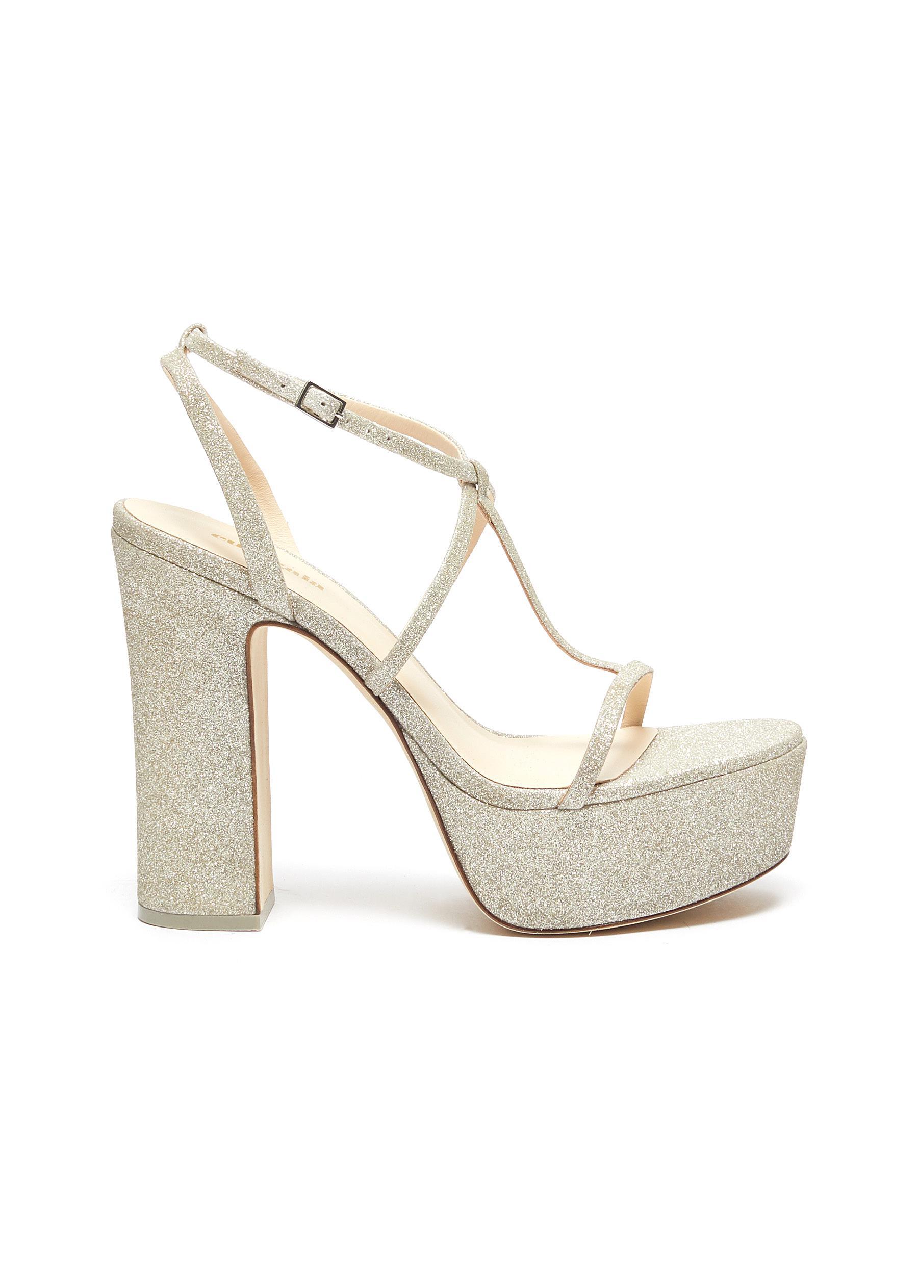 Angela glitter platform sandals by Cult Gaia