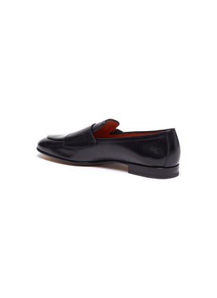 - SANTONI - 'Carlos' apron front double monk strap leather loafers