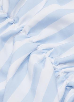 - LEAL DACCARETT - 'Flippa' bow front stripe sequin mini skirt