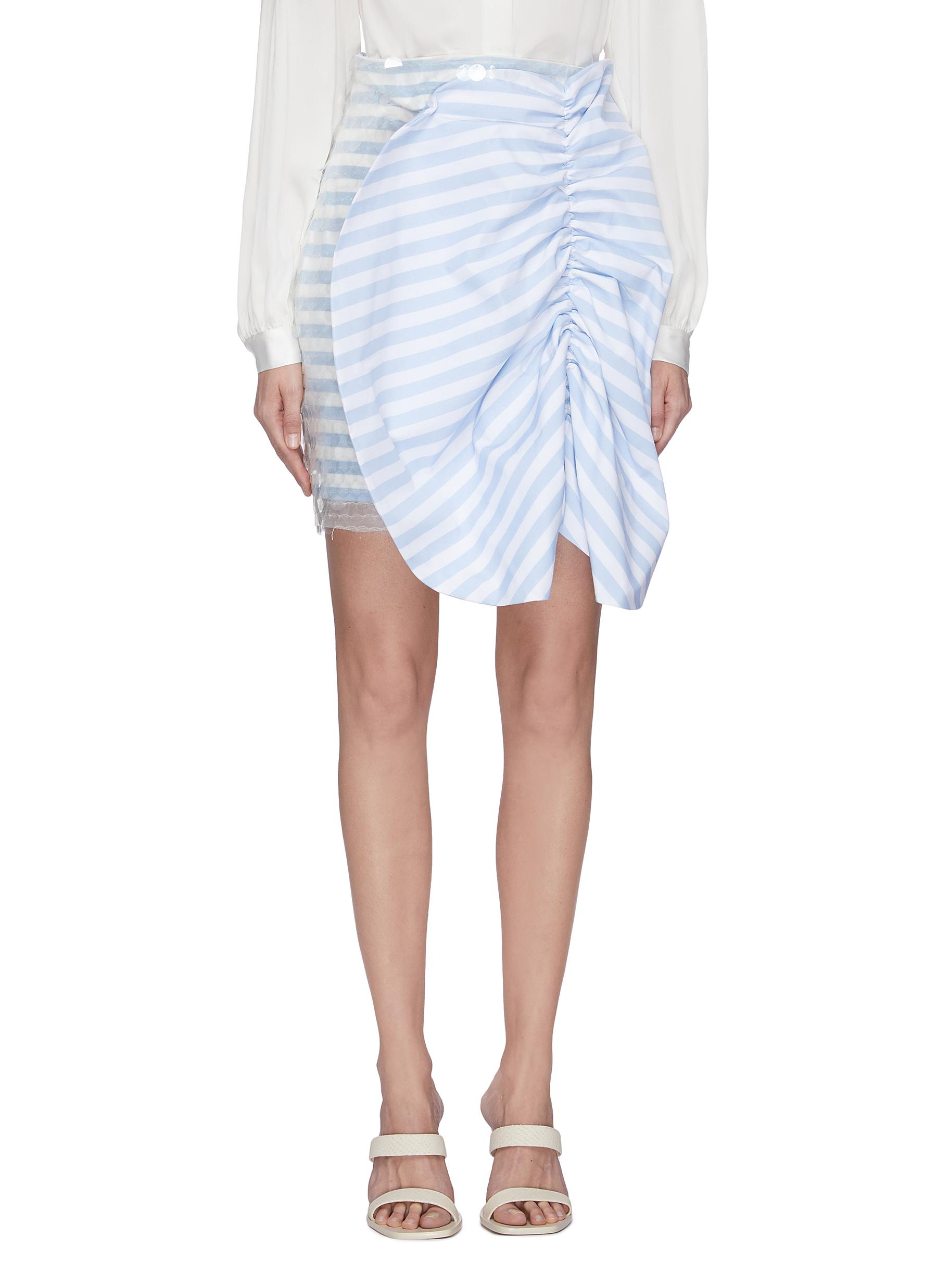 shop Leal Daccarett 'Flippa' bow front stripe sequin mini skirt online