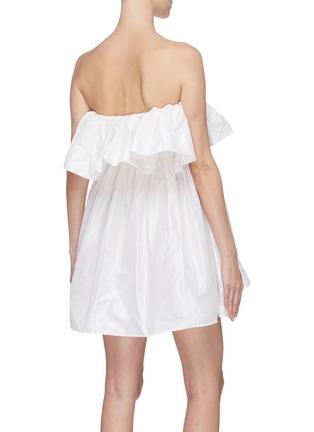 Back View - Click To Enlarge - LEAL DACCARETT - 'Perlas Blancas' ruffle sleeveless dress