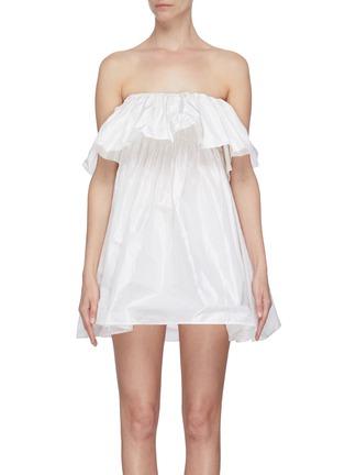 Main View - Click To Enlarge - LEAL DACCARETT - 'Perlas Blancas' ruffle sleeveless dress