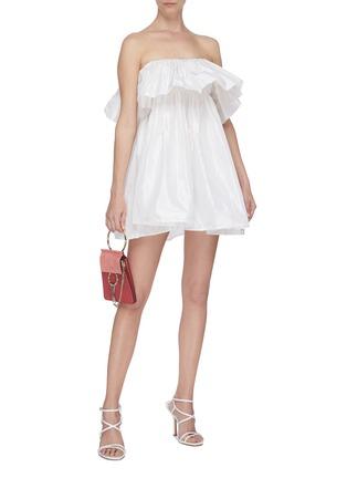 Figure View - Click To Enlarge - LEAL DACCARETT - 'Perlas Blancas' ruffle sleeveless dress