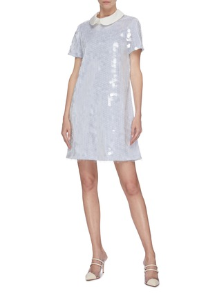 Figure View - Click To Enlarge - LEAL DACCARETT - 'Aguacero' sequin peter pan collar mini dress