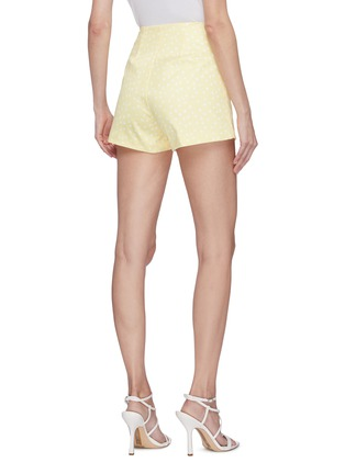 Back View - Click To Enlarge - LEAL DACCARETT - 'Golden' polka dot high rise shorts