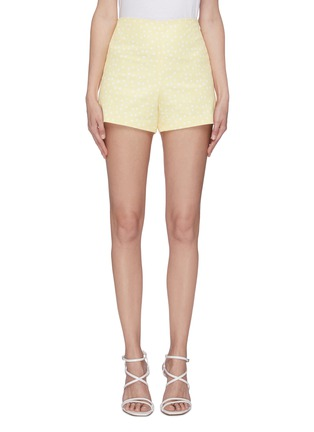Main View - Click To Enlarge - LEAL DACCARETT - 'Golden' polka dot high rise shorts