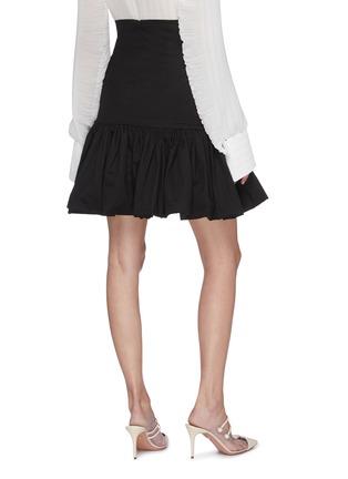 Back View - Click To Enlarge - LEAL DACCARETT - 'Oye Camo' ruffle hem mini skirt
