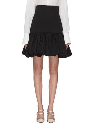 Main View - Click To Enlarge - LEAL DACCARETT - 'Oye Camo' ruffle hem mini skirt