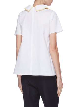 Back View - Click To Enlarge - LEAL DACCARETT - 'Brilliante' layered collar short sleeve top