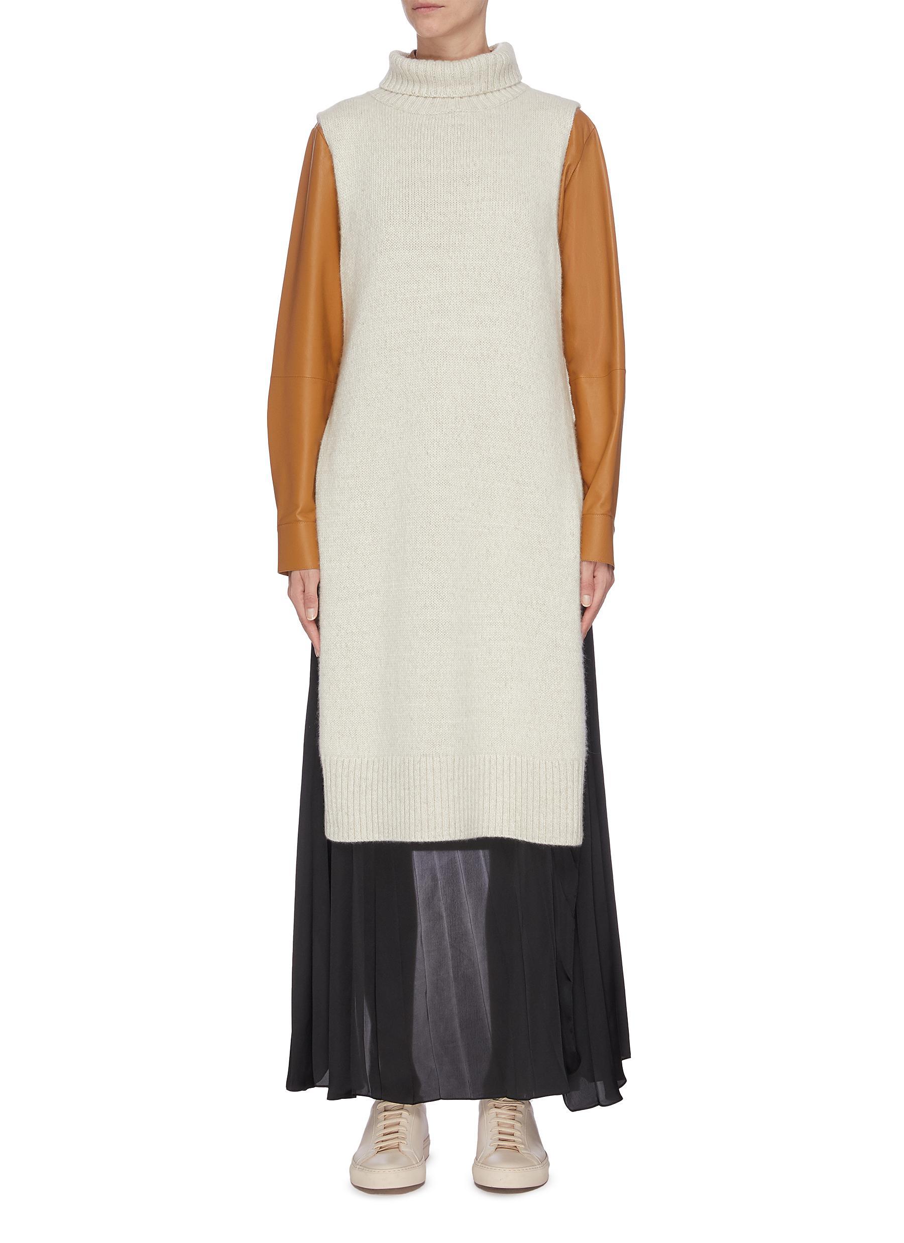 shop Equil Side slit mock neck poncho online