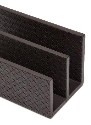Detail View - Click To Enlarge - BOTTEGA VENETA - Leather Envelope Holder – Espresso