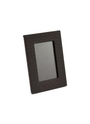 Main View - Click To Enlarge - BOTTEGA VENETA - Small leather frame – Espresso