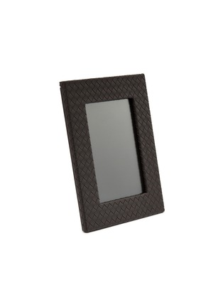 Main View - Click To Enlarge - BOTTEGA VENETA - Large leather frame – Espresso