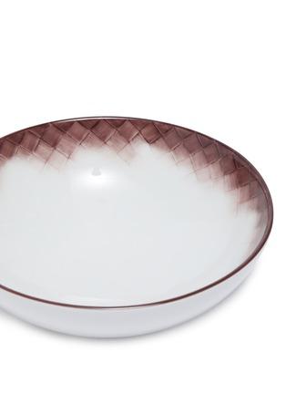 Detail View - Click To Enlarge - BOTTEGA VENETA - Vanishing Woven Dessert Bowl – Ebano