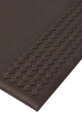 Detail View - Click To Enlarge - BOTTEGA VENETA - Leather Blotter – Espresso