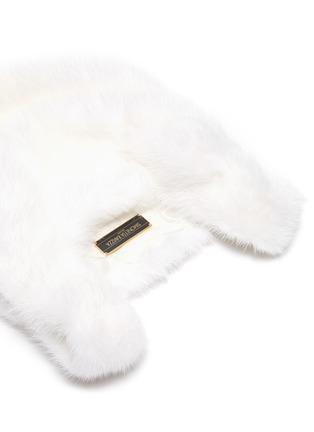 Detail View - Click To Enlarge - SIMONETTA RAVIZZA - 'Furrissima Baby' mink fur sac bag