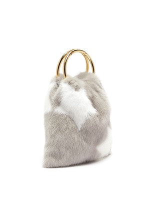 Detail View - Click To Enlarge - SIMONETTA RAVIZZA - 'Furrsac' ring handle star print mink fur sac bag
