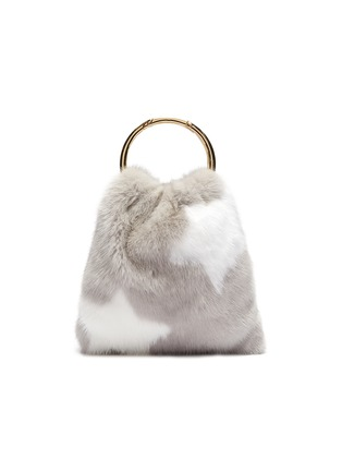 Main View - Click To Enlarge - SIMONETTA RAVIZZA - 'Furrsac' ring handle star print mink fur sac bag