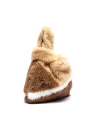 Detail View - Click To Enlarge - SIMONETTA RAVIZZA - 'Furrissima Baby' colourblock mink fur sac bag