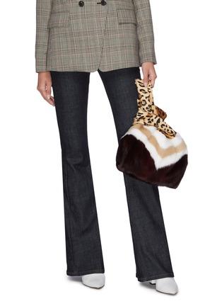 Figure View - Click To Enlarge - SIMONETTA RAVIZZA - 'Furrissima Baby' mixed print mink fur sac bag