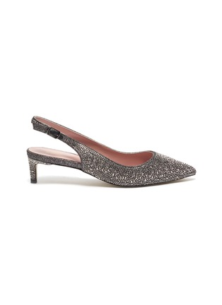 Main View - Click To Enlarge - PEDDER RED - 'Taleen' strass glitter slingback pumps