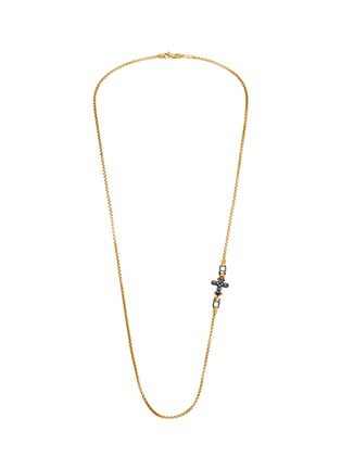 Main View - Click To Enlarge - JOHN HARDY - 'Classic Chain' 18k gold sterling silver necklace