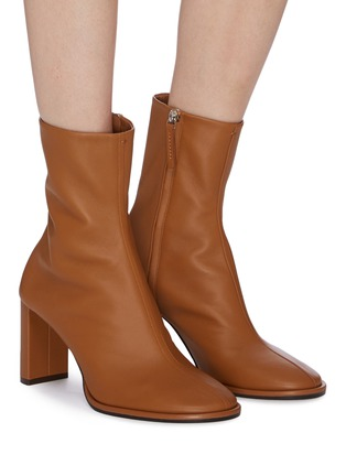 Figure View - Click To Enlarge - THE ROW - 'Tea Time' leather ankle boots