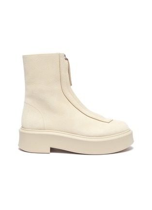 Main View - Click To Enlarge - THE ROW - Zip leather platform boots