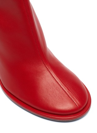 Detail View - Click To Enlarge - THE ROW - 'Tea Time' leather ankle boots