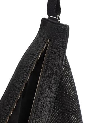 Detail View - Click To Enlarge - THE ROW - 'Slouchy Banana' large herringbone crossbody bag