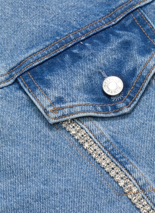 - GRLFRND - 'Kim' diamanté seam denim jacket