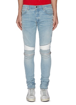Main View - Click To Enlarge - AMIRI - MX2' ribbed panel biker jeans