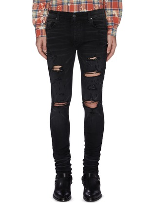 Main View - Click To Enlarge - AMIRI - 'Thrasher' distressed Jeans