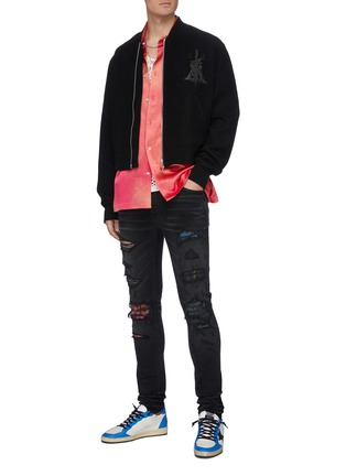 Figure View - Click To Enlarge - AMIRI - 'MX1' Vintage Tee Animation' graphic underlay distressed skinny jeans