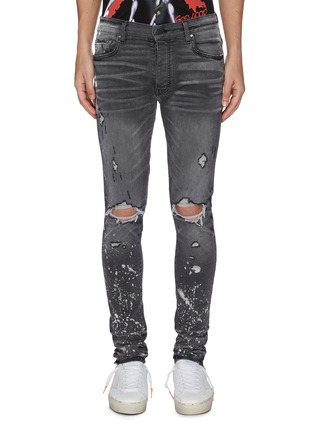 Main View - Click To Enlarge - AMIRI - 'Thrasher Minus' splattered acid wash jeans