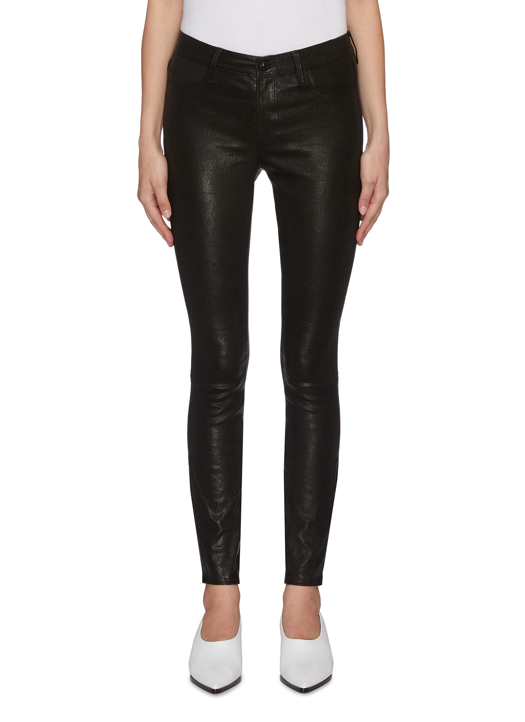 Buy J Brand Pants & Shorts Zip cuff lambskin leather pants