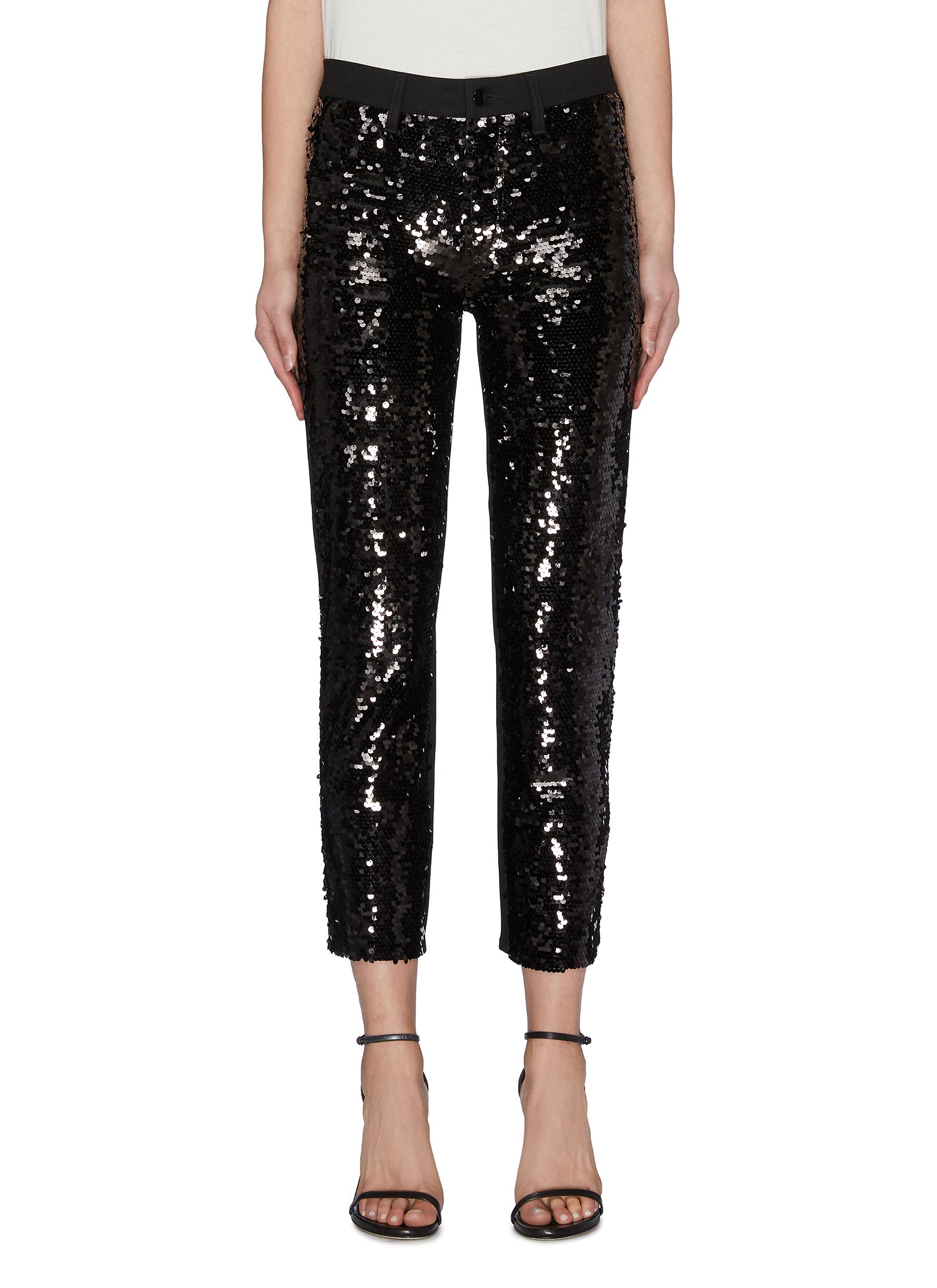 Buy J Brand Jeans 'Ruby' sequin cropped cigarette jeans