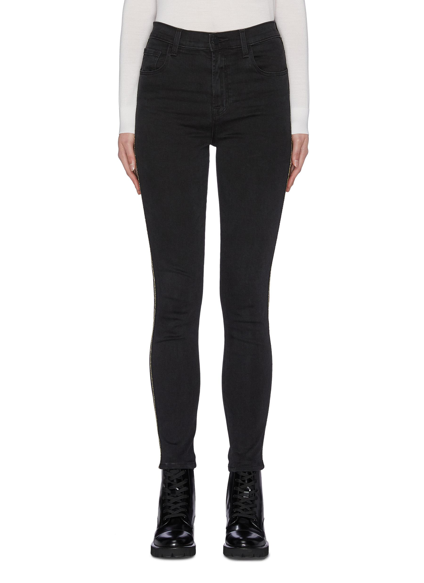 Buy J Brand Jeans 'Leenah' contrast outseam cropped skinny jeans