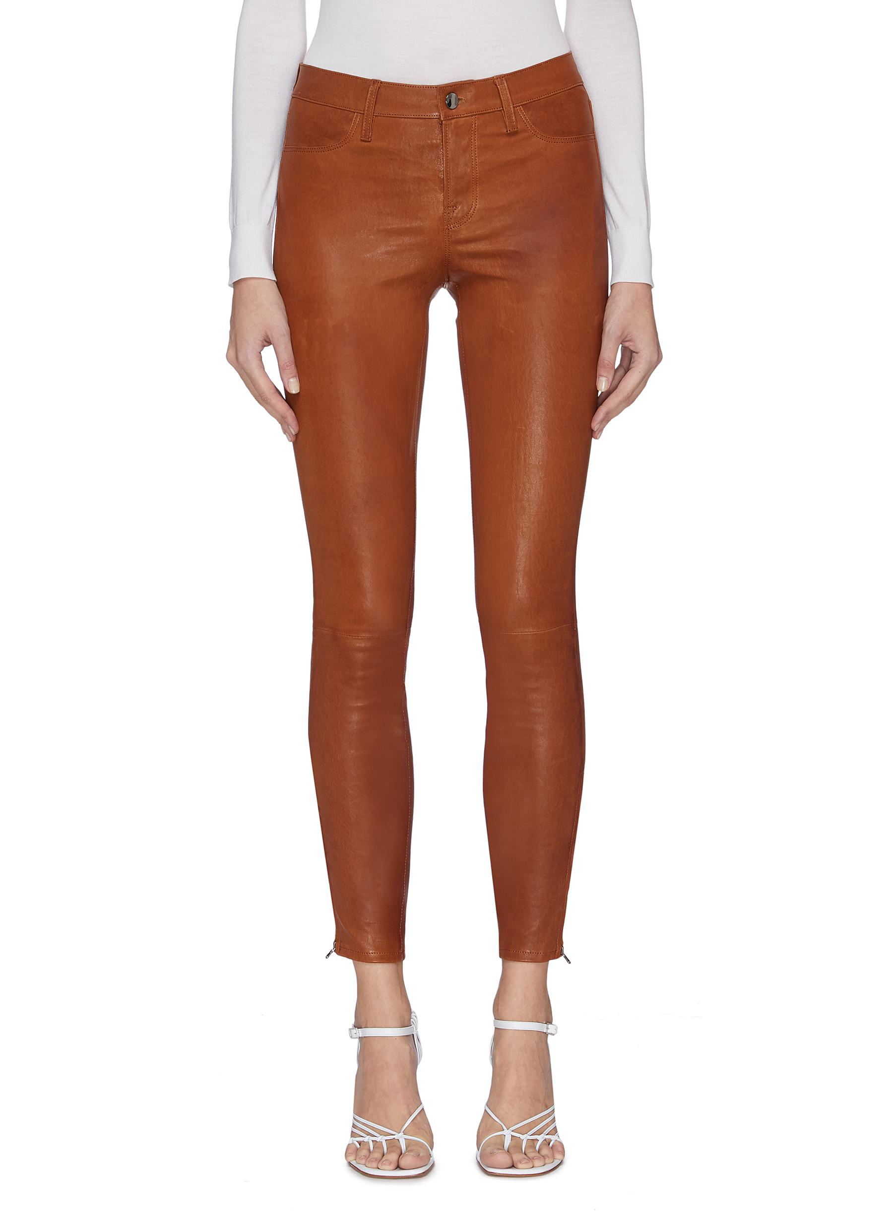 Buy J Brand Pants & Shorts Super Skinny Cuff Zip Leather Leggings