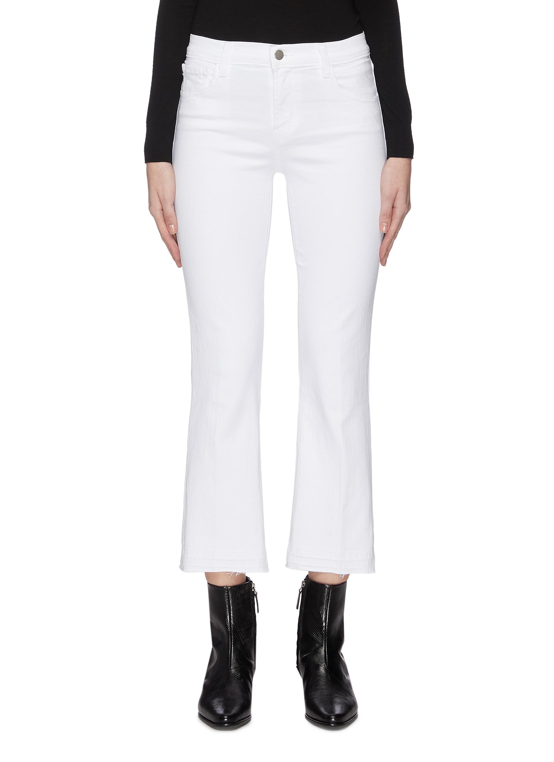 Buy J Brand Jeans 'Selena' frayed cuff cropped boot cut jeans