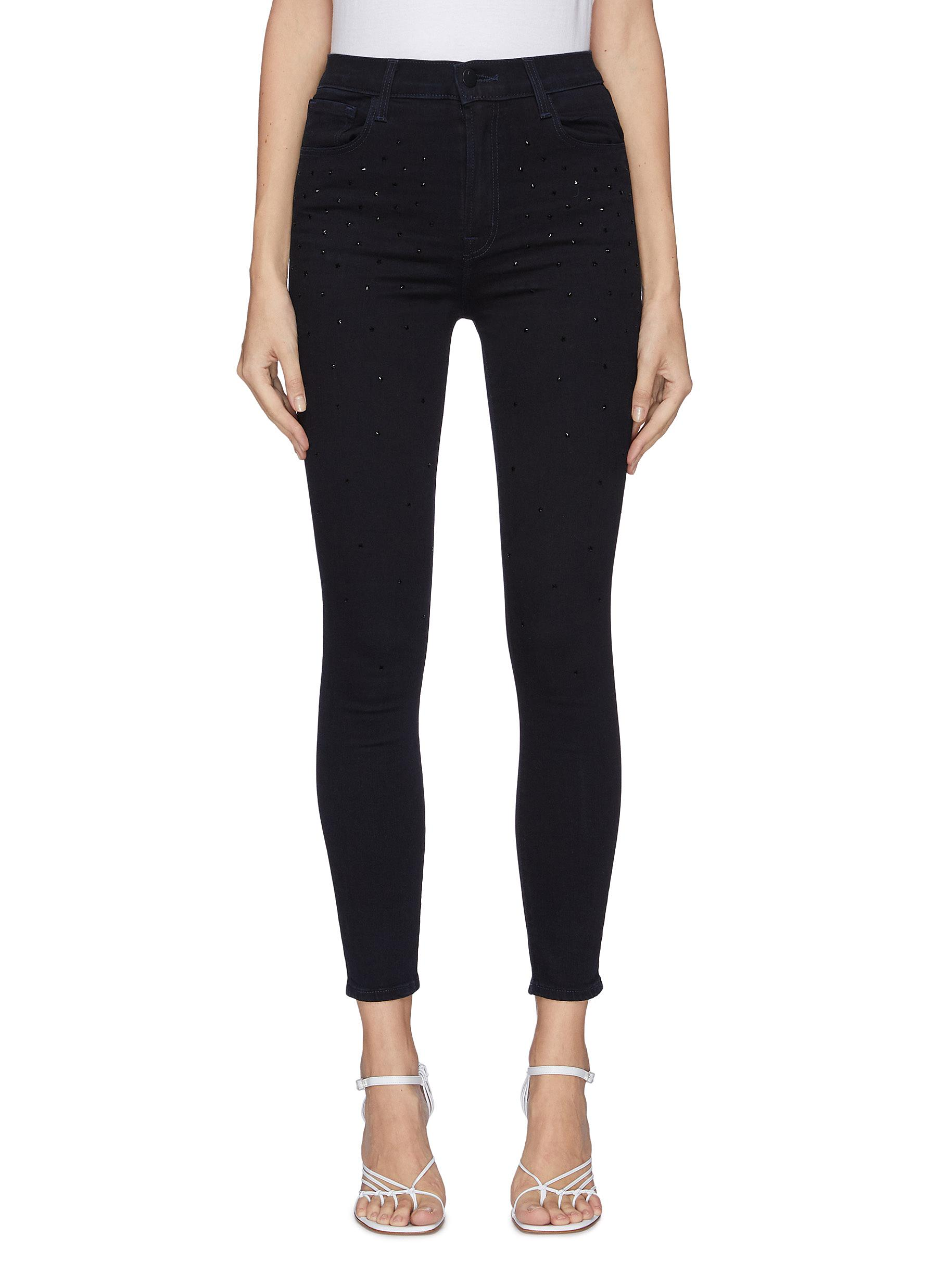 Buy J Brand Jeans 'Leenah' Cropped Star Studs Jeans